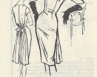 "1950s Vintage Sewing Pattern DRESS B31"" (R578) A 'Gothe' Original A756"
