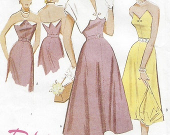 "1951 Vintage Sewing Pattern DRESS-BOLERO B34""-36""-38"" (R416) Butterick 6633"