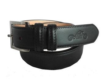 StreetRIDER® Motorcycle Leather Belt black