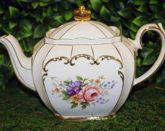 Sadler Floral Cube Teapot