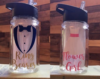 Ring Bearer and Flower Girl 12oz Kids Tumblers
