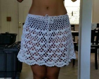 Beautiful crochet skirt cover up