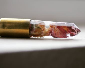 Rose Bud bullet crystal pendant