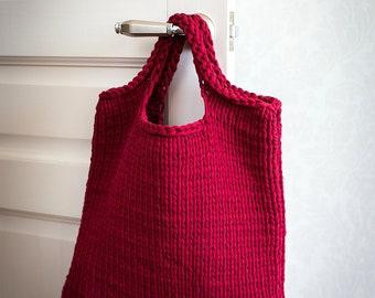 Shopper Bag/Crochet tote Bag/Knitting Bag/T shirt yarn Bag/Market Bag