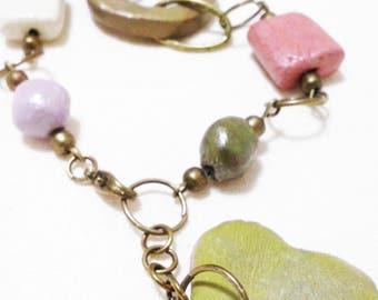 Bracelet heart Green