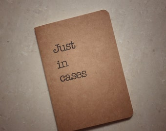 Love Actually | Just in Cases | A6-size, Kraft Notebook