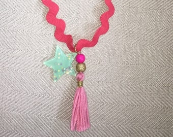 Toddler Necklace, tassel necklace, star necklace, charm necklace