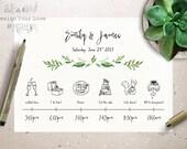 Sample Wedding Weekend Itinerary Templates