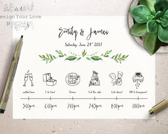 Wedding timeline | Etsy
