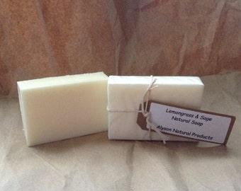 Lemongrass & Sage Natural Soap