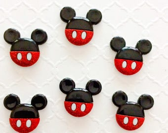 Mickey and Minnie~ Disney Buttons ~ Craft Buttons ~ Bulk Buttons ~ Knitting Button ~ Diy Disney Jewelry Making ~ Minnie Mouse Diy ~