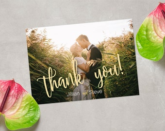 CUSTOM Photo Thank You Card, Wedding Thank You Card, Engagement Thank You Card, Thank You Card DIGITAL FILE 5x7