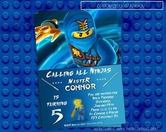 Ninjago Invitation, Ninjago Birthday Invitation, Ninja Lego Birthday Invitation, Ninja Birthday Invitation, Birthday Invitation