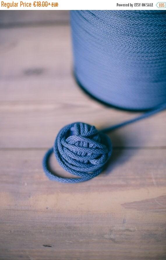 Blue yarn - macrame cord- crochet cord - polyester rope - macrame rope- 218 yards/200 meters or 328 yards/300 meters rope cord 004