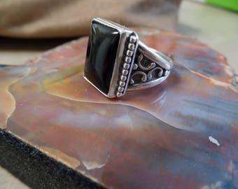 Men's Black Onyx Ring 1270