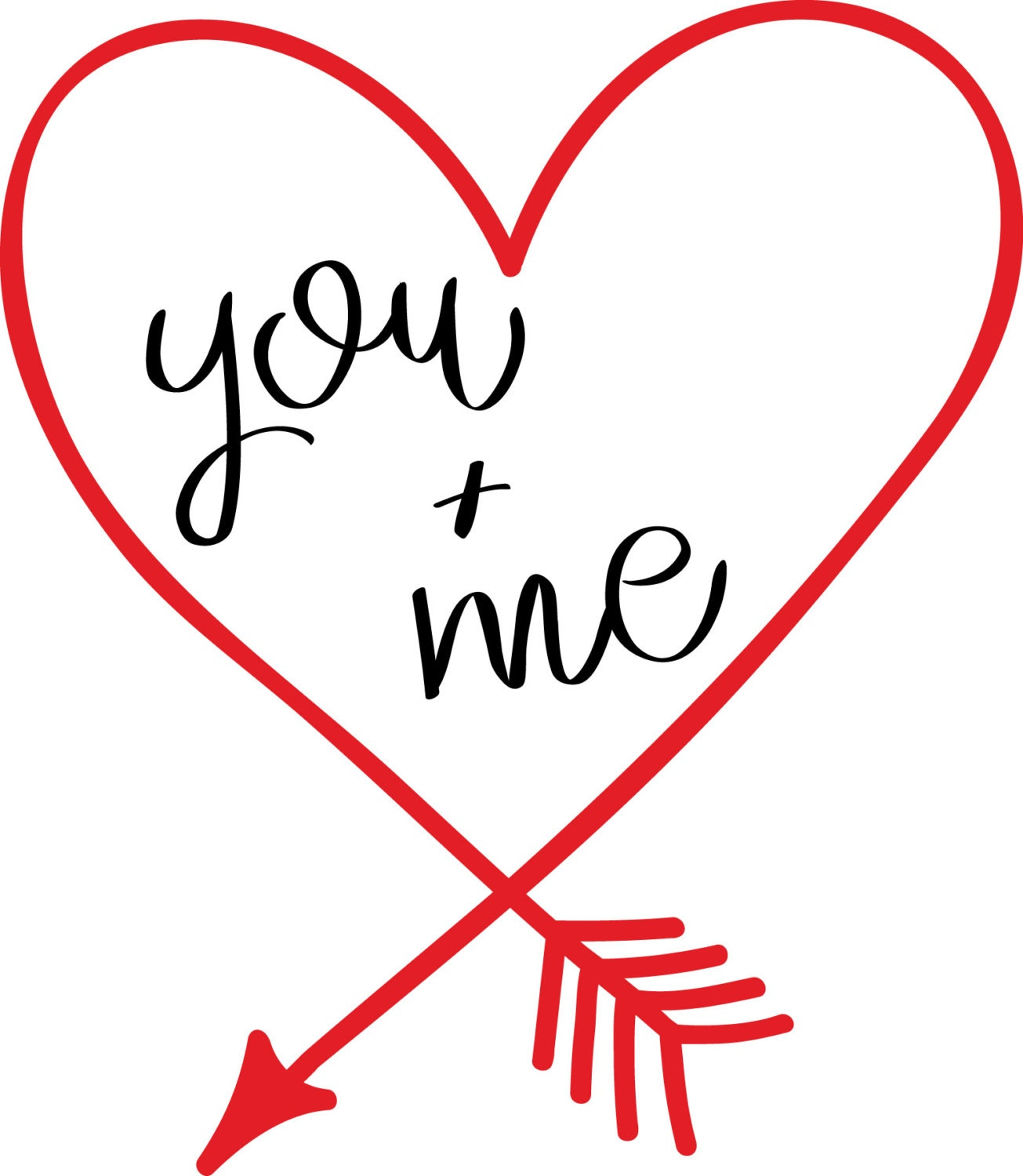 You Me Heart Shaped Arrow Vinyl Cut File Svg Dfx