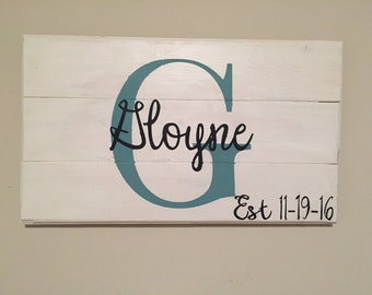 Customized Name Sign