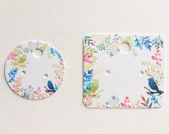 Earring cards, display cards, two sizes