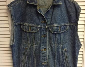 Lee jean jacket vest