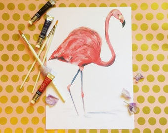 Flamingo Art Print - Natural Collection