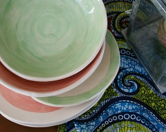 Tableware gift table / / Dinnerware / / Cutting board / / Set of ceramic / / Pottery