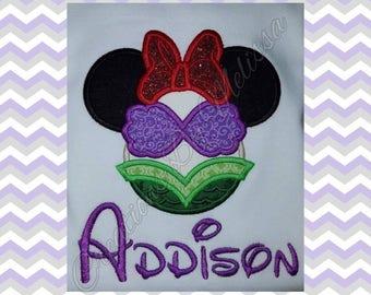 Minnie Little Mermaid /Minnie Mouse Mermaid/ Little Mermaid/ Mermaid Birthday Shirt/ Girls BirthdayShirt/ Mermaid Disney Shirt/ Disney Shirt