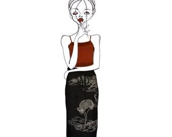 Fiddling- Evisu illustration