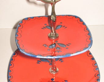 """Vintage 70s Etagere by SCHRAMBERGER, decor """"Poncho"""""""