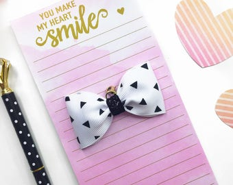 Black and White Planner Charm/ Planner Charm / Bow Planner Charm