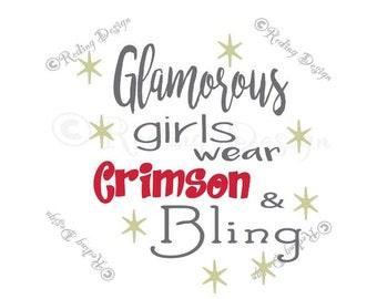 Glamorous Girls wear Crimson and Bling SVG