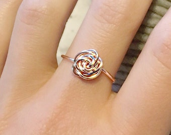 Rose Gold Rose Ring//Rose Ring//Rose Gold Ring