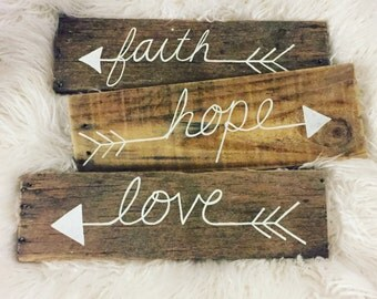 Inspirational Pallet Wood Signs (Set of 3)