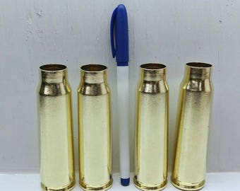 20mm Vulcan Cannon Brass Casing, Steampunk Bullet Jewelry, Bullet Wedding Decor, Bullet Bouquet, Flower Arrangement-Shiny Large Bullet Shell