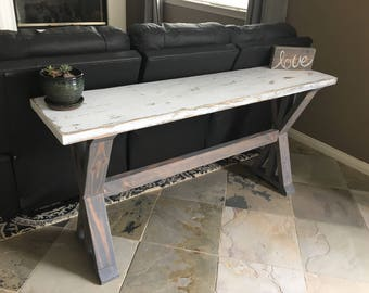 Trestle X Leg Console Table | Entryway Table | Sofa Table | Farmhouse Entryway Table | Trestle Sofa Table | Entry Way