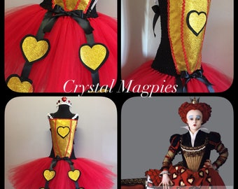 Queen of hearts inspired tutu dress
