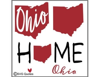 SVG Cutting File Ohio State DXF EPS For Cricut Explore, Silhouette & More. Instant Download. Personal and Commercial Use. Vinyl Stickers