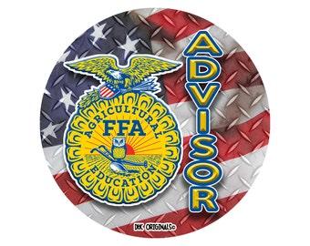 Officially Licensed FFA Advisor Decals Waterproof FFA Window Decals Yeti Tumbler Stickers