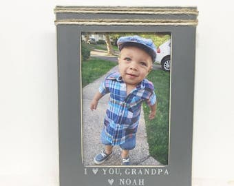 I love you grandpa frame, Father's Day frame, grandpa gift, personalized frame. Father's Day gift, personalized gift
