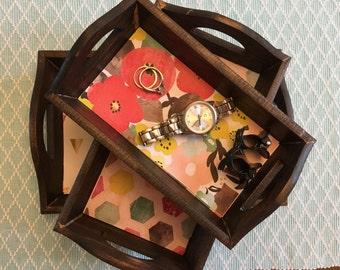 Handmade Jewelry Trays / Nesting Trays / Catch-All Trays