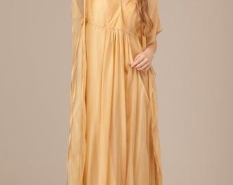 Erline Silk Dress Inc slip.