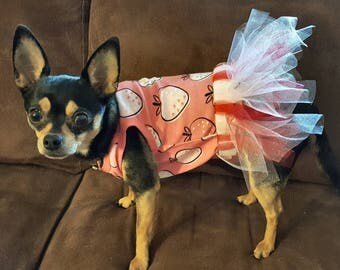 Dog Dress with Removable Tutu