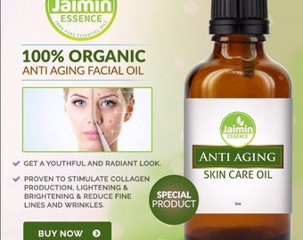 Anti Aging Skincare Oil 100% Anti Aging Facial Oil Pure 3oz Bottle - 100ML