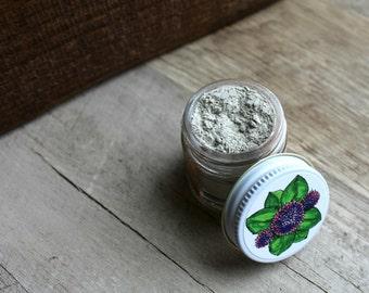 Herbal Tooth Powder in Glass Jar | herbal toothpaste, toothpaste, herbs, natural toothpaste, tooth paste, tooth powders, herbal powders