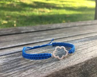 Dainty Cloud Charm Bracelet - Cobalt