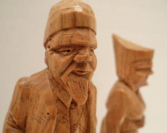 folk art - folk art - antique - St-Jean-Port-Joli - sculpture in wood - carved wood - collection - collectible - couple - gift