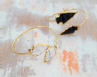 Arrowhead Cuff Bracelet - Adjustable Bangle