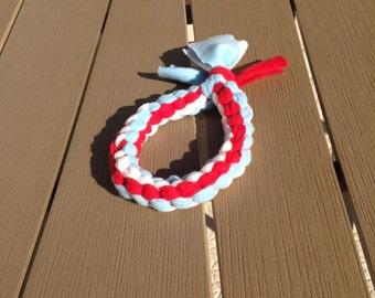 fleece tug dog tug round 3 / toy / agility / flyball