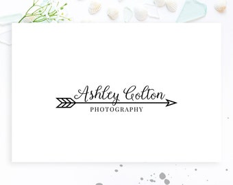 Modern Photography Logo, Logo with Arrow, Business Logo, Logo Arrow, Premade Logo, Logo Design, Boho Logo, Rustic Logo, Watermark, File 050