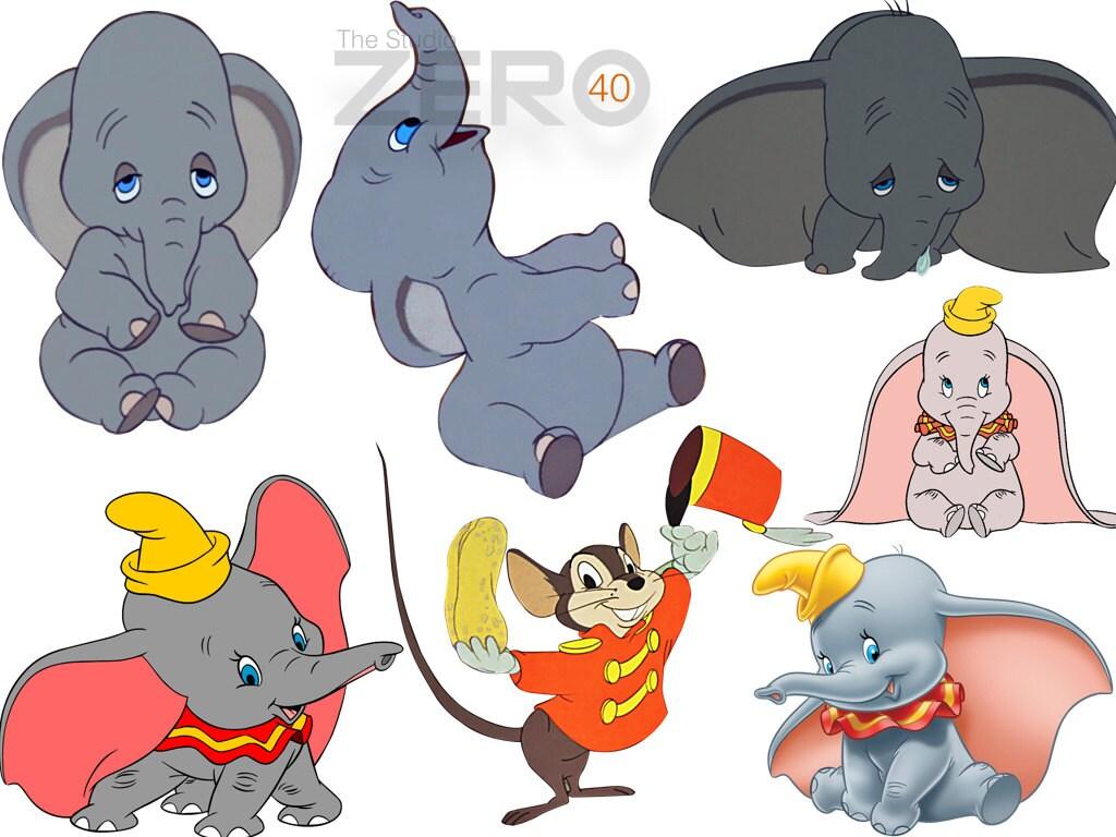 40 Disney Dumbo Clipart, Instant Download, 300DPI ...