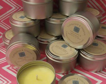 Natural highly scented soy wax candles